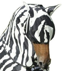 Zebra Buzz-Off, fly mask